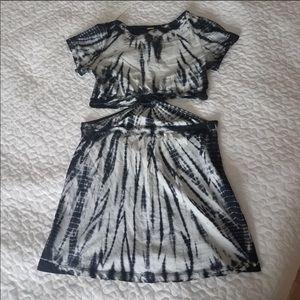 Body Glove Tie Dye Cut Out Dress